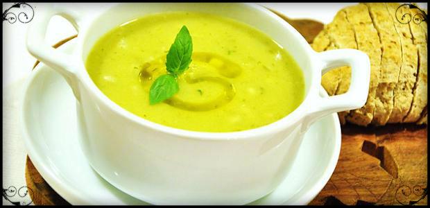 Supa crema de dovlecei cu branza